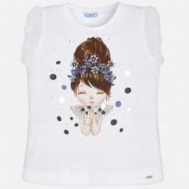 Mayoral 3008-92 Koszulka dziewczęca kolor granat