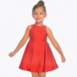 Mayoral 3928-35 Sukienka dziewczęca z tafty czerwona
