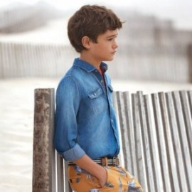 Mayoral 6135-37 Koszula chłopięca jeans granatowa