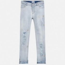 Mayoral 6503-69 Spodnie dziewczęce długie jeans niebieskie