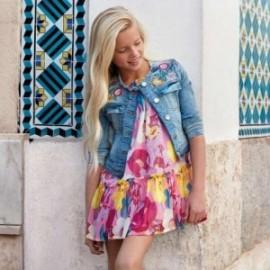 Mayoral 6932-39 Sukienka dziewczęca na ramiączkach kolor fuksja