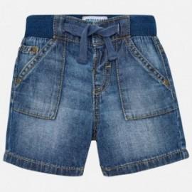 Mayoral 203-85 Bermudy chłopięce kolor jeans