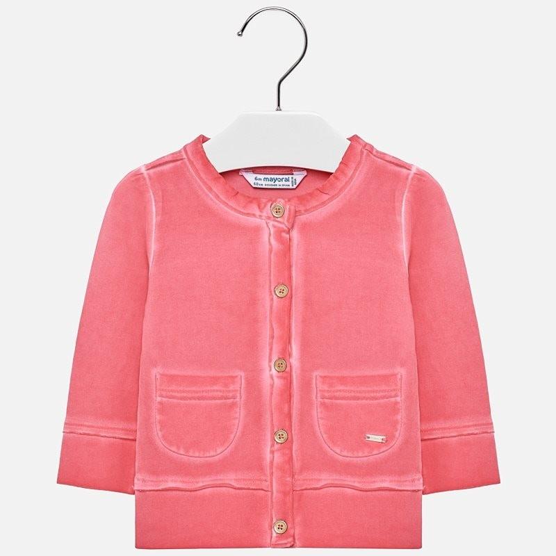 Mayoral 1413-15 Sweterek dziewczęcy kolor geranium