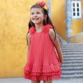 Mayoral 3926-59 Sukienka plisowana dziewczęca czerwona