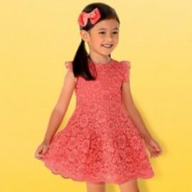 Mayoral 3934-78 Sukienka dziewczęca koralowa