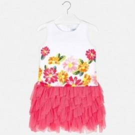Mayoral 6931-80 Sukienka dziewczęca kolor koralowy