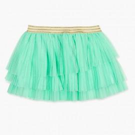 Boboli Tiulowa spódnica dla dziewczynki zielona 727208-4458