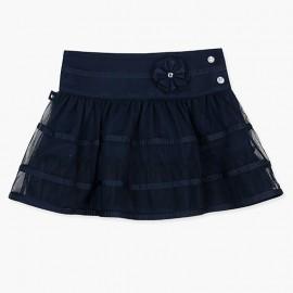 Boboli Tiulowa spódnica dla dziewczynki granatowa 727365-2440