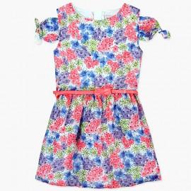Boboli Szyfonowa sukienka dla dziewczynki kolorowa 727411-9050