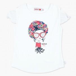 Boboli Bluzka dla dziewczynki biała 727422-1100
