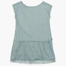 Boboli Tiulowa sukienka dla dziewczynki morska 727477-8102
