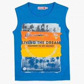 Boboli Bawełniana koszulka dla chłopca niebieska 837176-2426