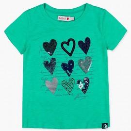 Boboli t-shirt dla dziewczynki zielony 417125-4455
