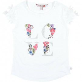 Boboli bluzka dla dziewczynki biała 727398-1100
