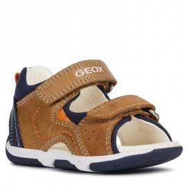 Geox sandály pro chlapce hnědá B920XB-0CL22-C5GF4