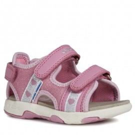 Geox sandały dla dziewczynki różowe B920DB-01454-C8006-S