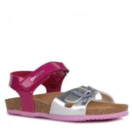 Geox sandały dziewczęce na korku fuksja J921CD-000HH-C8295-S