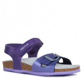Geox sandały dziewczęce na korku fiolet J921CD-054AJ-CG8N8-S