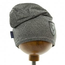 Krochetta czapka chłopięca przejściowa szara 105-462