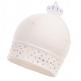 Jamiks czapka dziewczęca przejściowa ekri ALWA JWB035-2