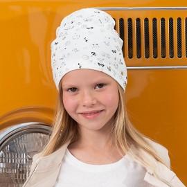 Jamiks czapka dziewczęca przejściowa ekri CERTA JWB115-1