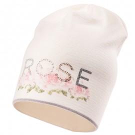 Jamiks czapka dziewczęca przejściowa ekri DEIZI JWB081-1