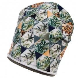 Jamiks czapka przejściowa dla chłopaka khaki EZOP JWB145-1