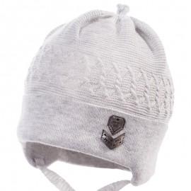 Jamiks czapka dla chłopaka przejściowa popiel GIWO JWB060-4