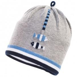 Jamiks czapka przejściowa chłopięca popiel HUZAR JWB013-2