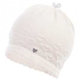 Jamiks czapka dziewczęca przejściowa ekri JULI JWB031-2