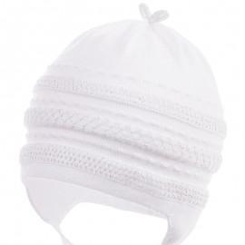 Jamiks czapka dziewczęca przejściowa biała NATA JWB032-1