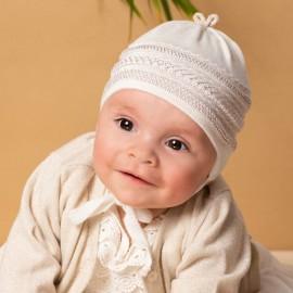 Jamiks czapka dziewczęca przejściowa ekri NATA JWB032-2