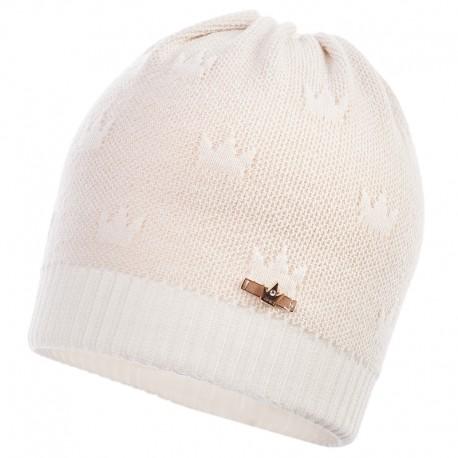 Jamiks czapka dla dziewczynki przejściowa ekri NAVIA JWB142-3