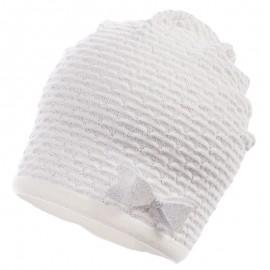 Jamiks czapka dla dziewczynki przejściowa popiel SANTORINI JWB174-2