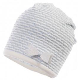 Jamiks czapka dla dziewczynki przejściowa błękit SANTORINI JWB174-3