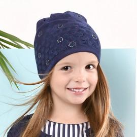 Jamiks czapka dla dziewczynki przejściowa granat TRIESTA JWB106-1