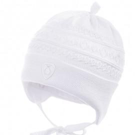 Jamiks czapka przejściowa chłopięca biała ROJEN JWB160-4