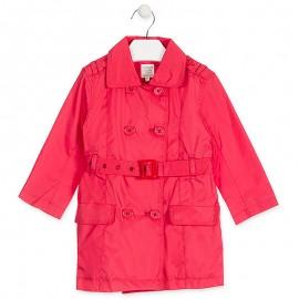 Losan Parka dziewczęca z paskiem czerwona 916-2790AA-766