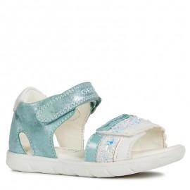 Geox sandały dla dziewczynki turkusowe B921YB-0MABC-C4070
