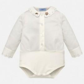 Mayoral 2782-11 Body eleganckie dla dziewczynki białe