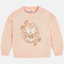 Mayoral 4320-58 Sweter dziewczęcy róż