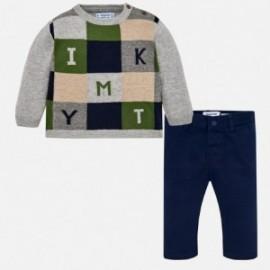 Mayoral 2586-80 sweter ze spodniami dla chłopaka szary