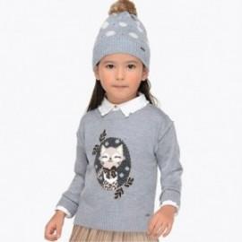 Mayoral 4320-56 Sweter dziewczęcy srebrny