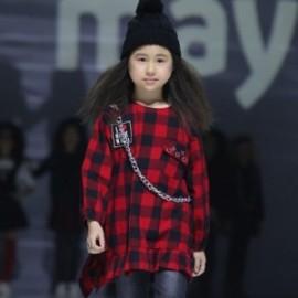 Mayoral 7952-32 Sukienka dziewczęca w kratkę czerwień