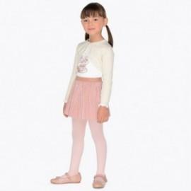 Mayoral 4980-94 Komplet dziewczęcy bluzka i spódnica biel/róż