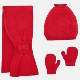 Mayoral 10461-19 Komplet zimowy dziewczęcy czerwony
