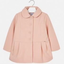 Mayoral 4496-55 Płaszcz dziewczęcy kolor pudrowy