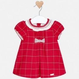 Mayoral 2854-15 Sukienka dziewczęca w kratkę czerwona