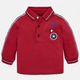 Mayoral 2120-78 Koszulka chłopięca polo z długim rękawem bordo