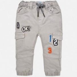 Mayoral 2572-91 Spodnie jogger dla chłopca z łatami szare
